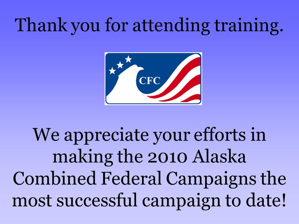 Thank you for attending training.