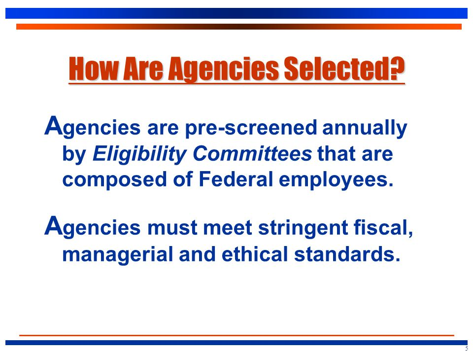 How Are Agencies Selected.