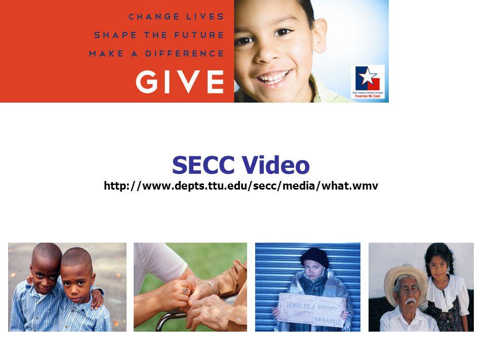 SECC Video http://www.depts.ttu.edu/secc/media/what.wmv