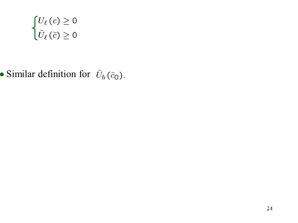 24 Similar definition for