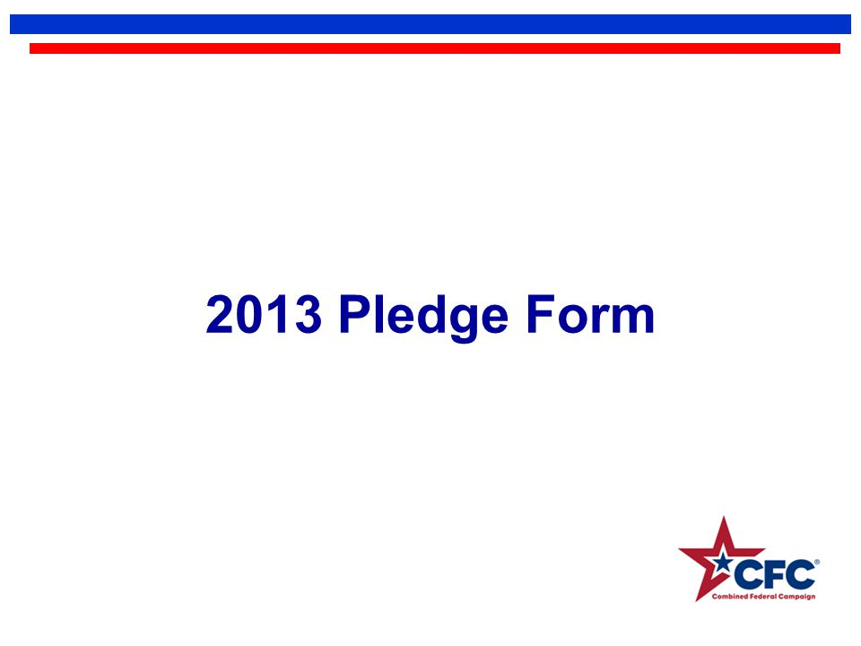 2013 Pledge Form