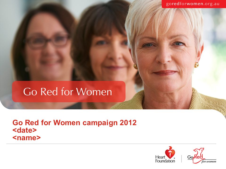 Go Red for Women campaign 2012