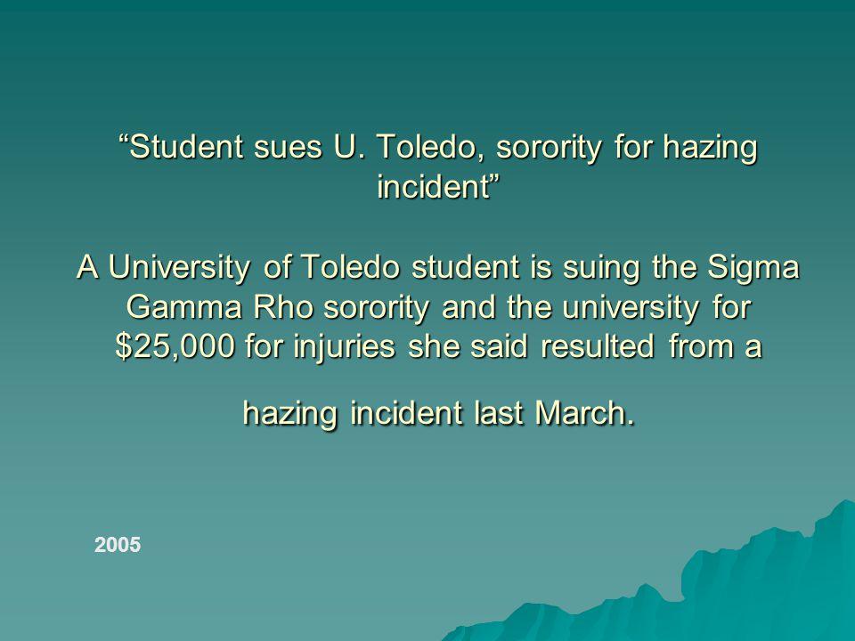Student sues U.