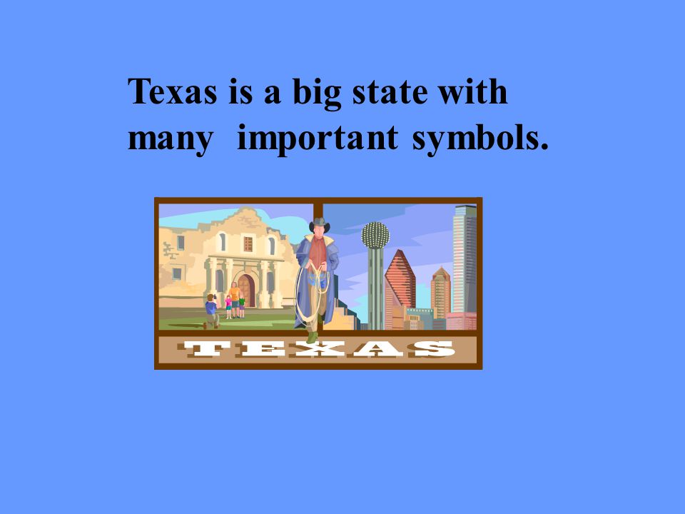 Texas is a big state with many important symbols.