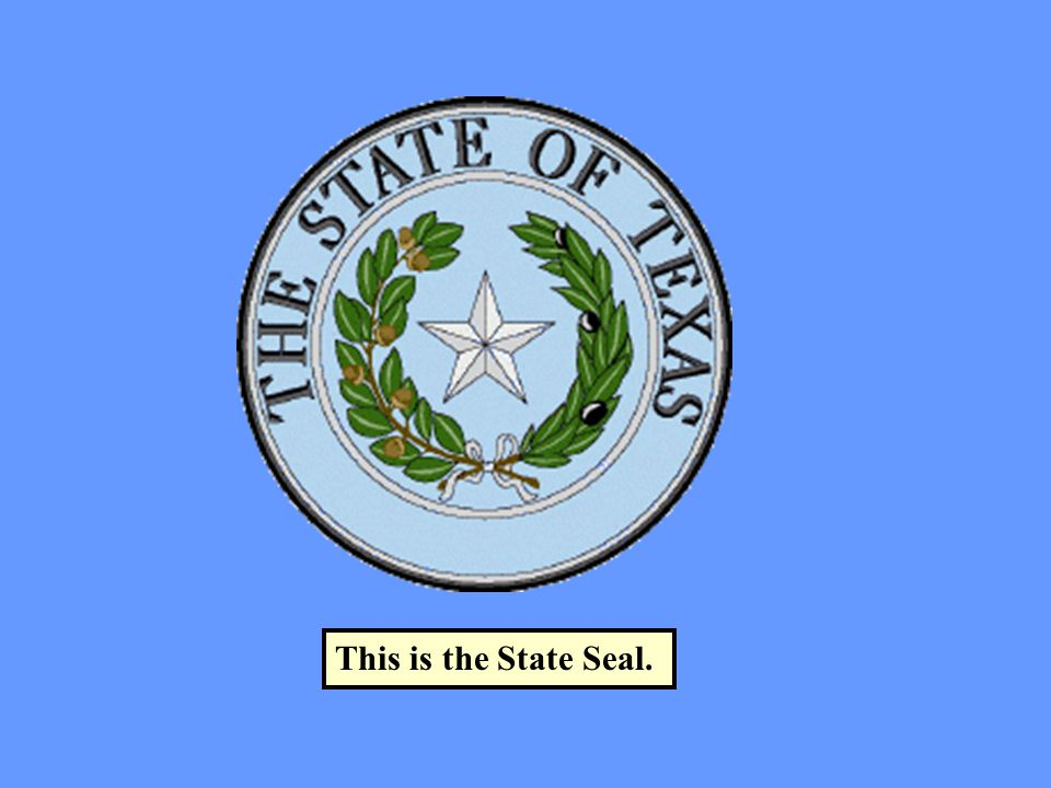 This is the State Seal.