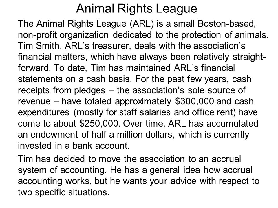 Animal Rights League The Animal Rights League (ARL) is a small Boston-based, non-profit organization dedicated to the protection of animals.