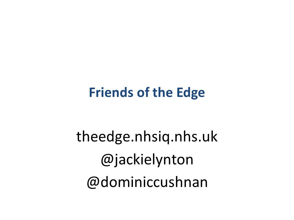 #NHSChangeDay #SHCRchat Friends of the Edge theedge.nhsiq.nhs.uk @jackielynton @dominiccushnan