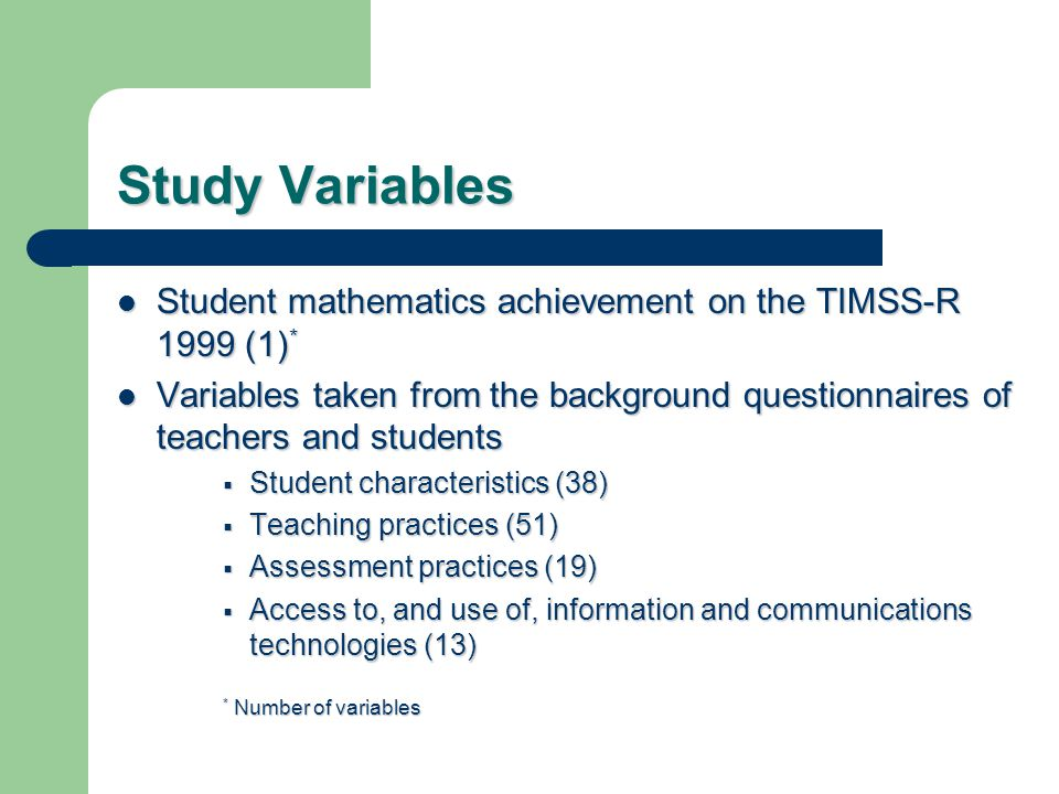 Conclusions The CFA and SEM models combining student characteristics and ICT use result in excellent fit indices.
