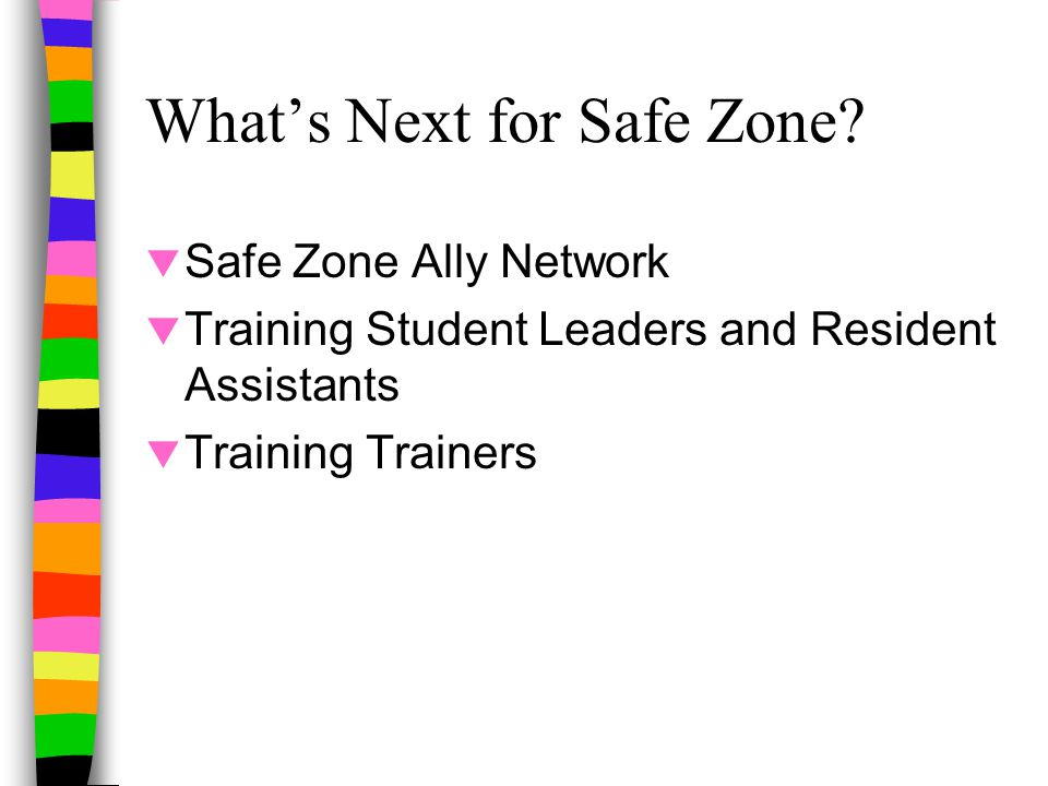 What's Next for Safe Zone.