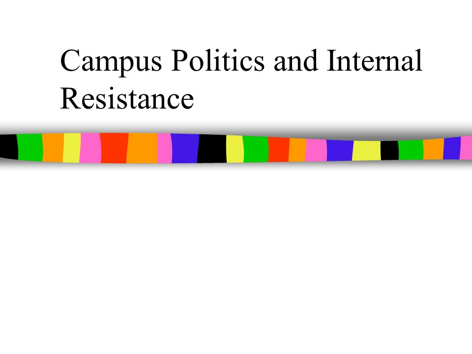 Campus Politics and Internal Resistance