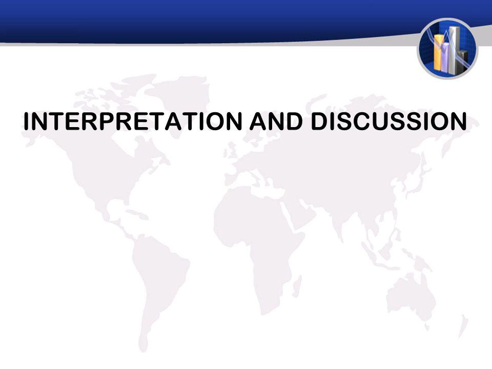 INTERPRETATION AND DISCUSSION