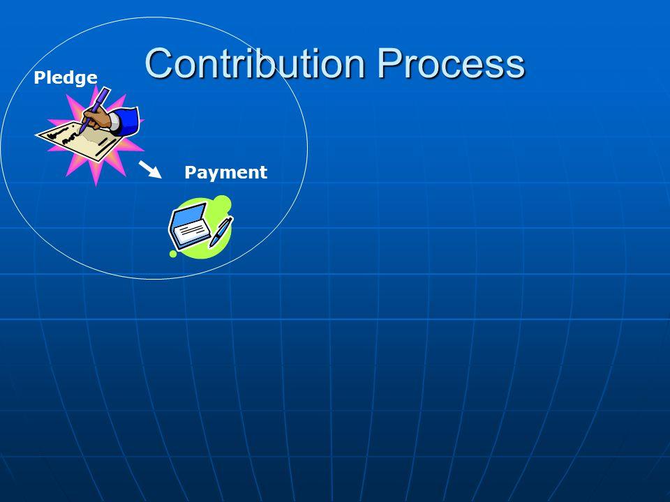 Contribution Process Pledge Payment
