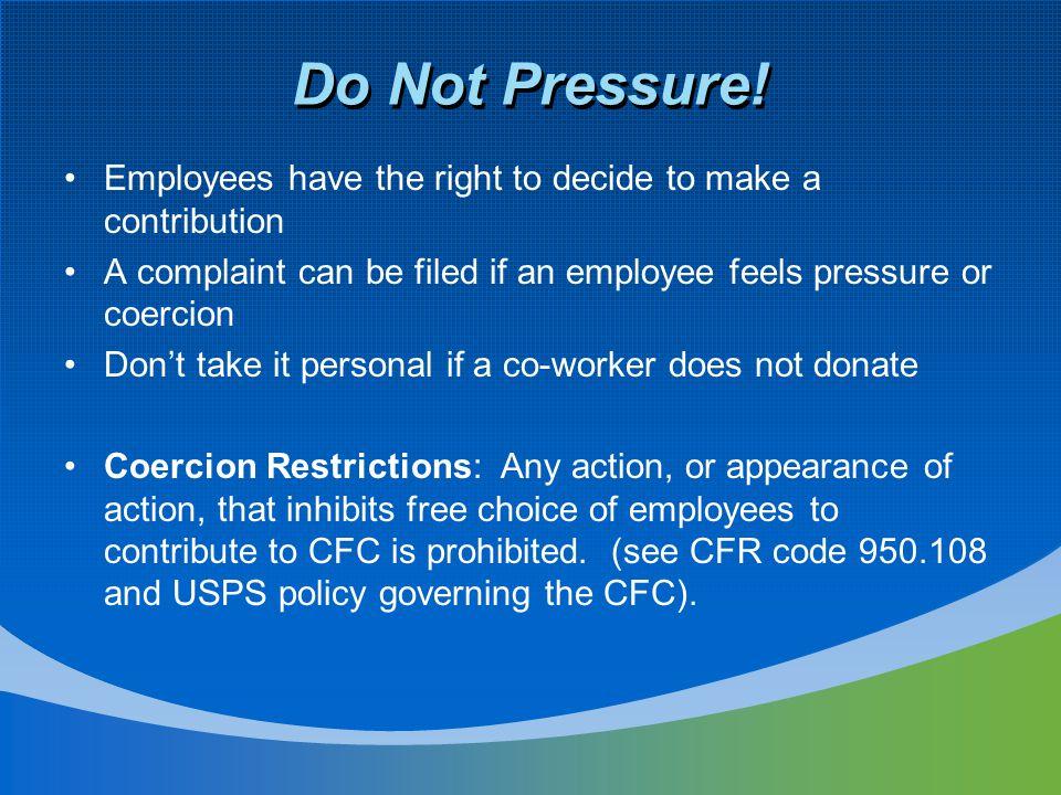 Do Not Pressure.