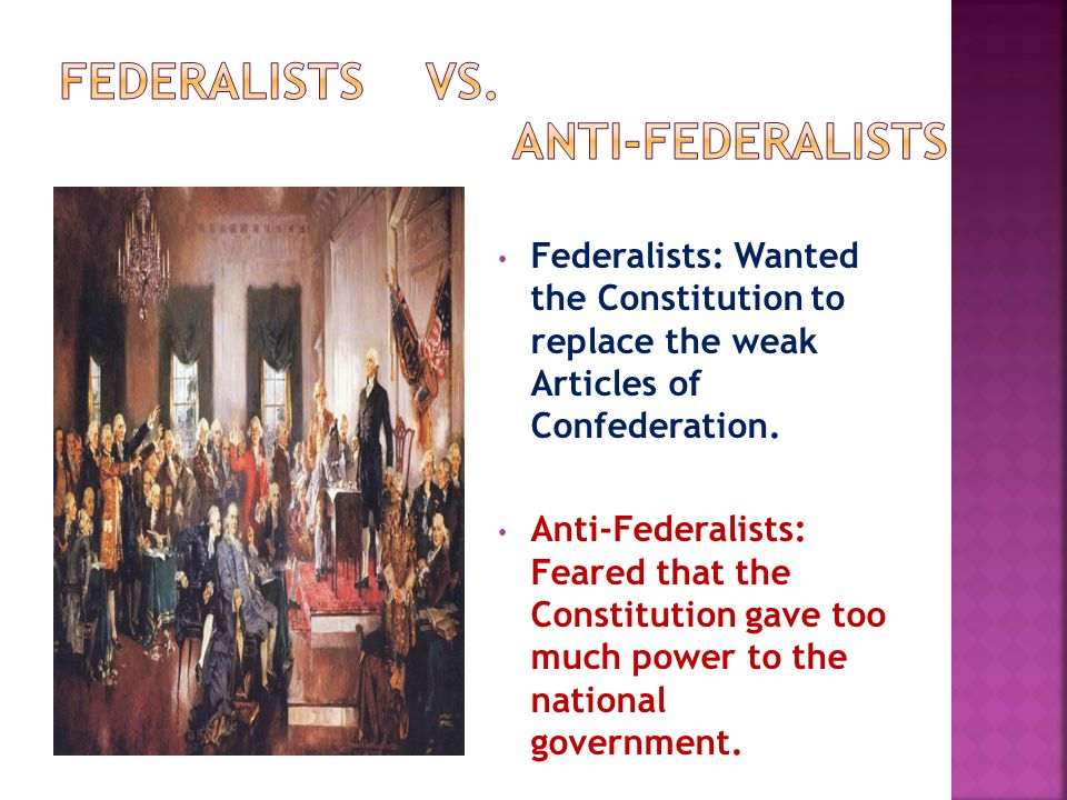 In order to get the Constitution ratified, Federalists promised Anti-Federalists that the first act of Congress would be to pass a Bill of Rights: a series of amendments added to the Constitution that guarantee our rights.