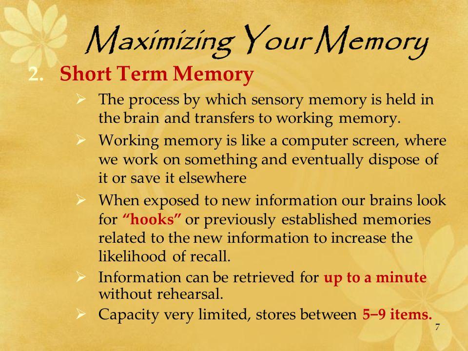 Maximizing Your Memory  A chunk is a perceptual unit .