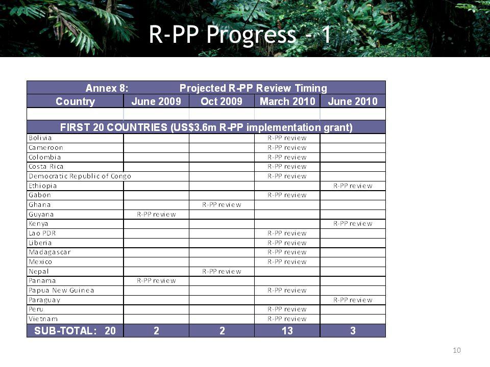 10 R-PP Progress - 1
