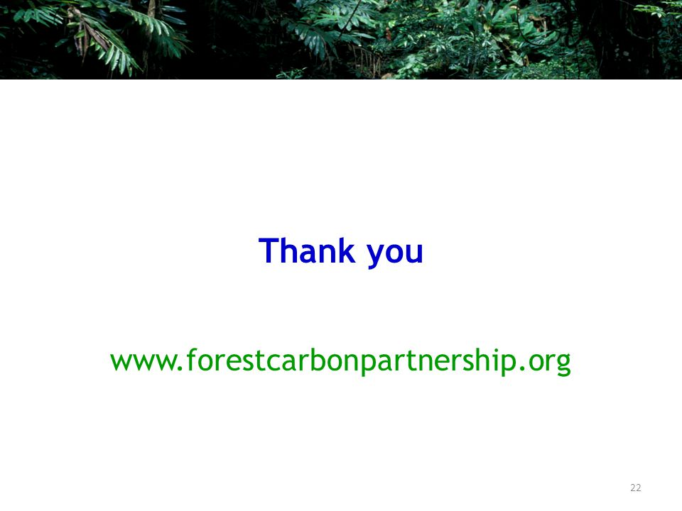 Thank you www.forestcarbonpartnership.org 22