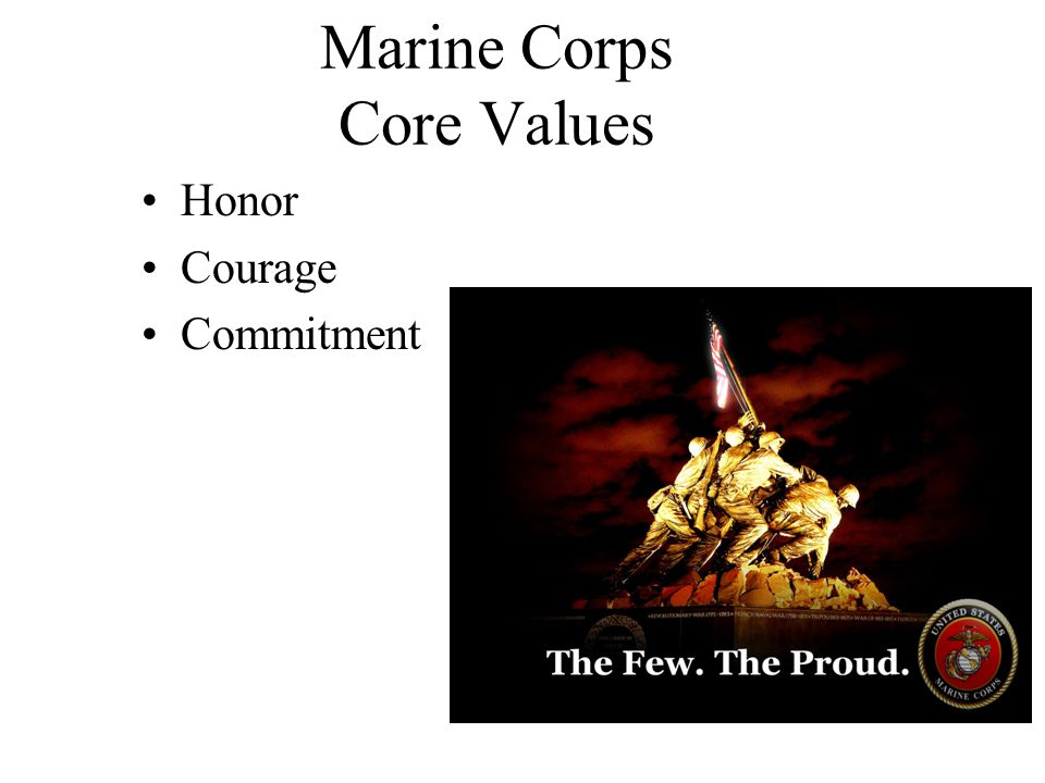 Marine Corps Core Values Honor Courage Commitment