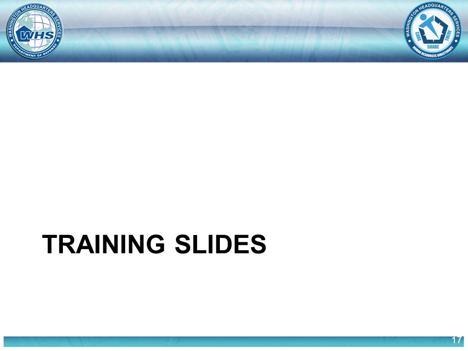 17 TRAINING SLIDES