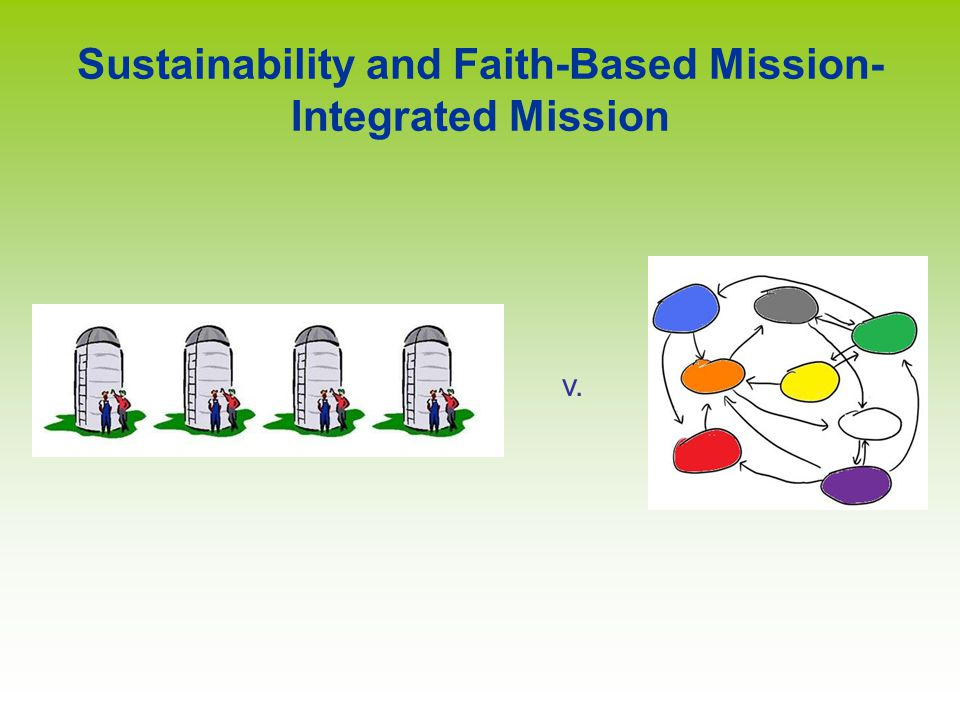 v. Sustainability and Faith-Based Mission- Integrated Mission