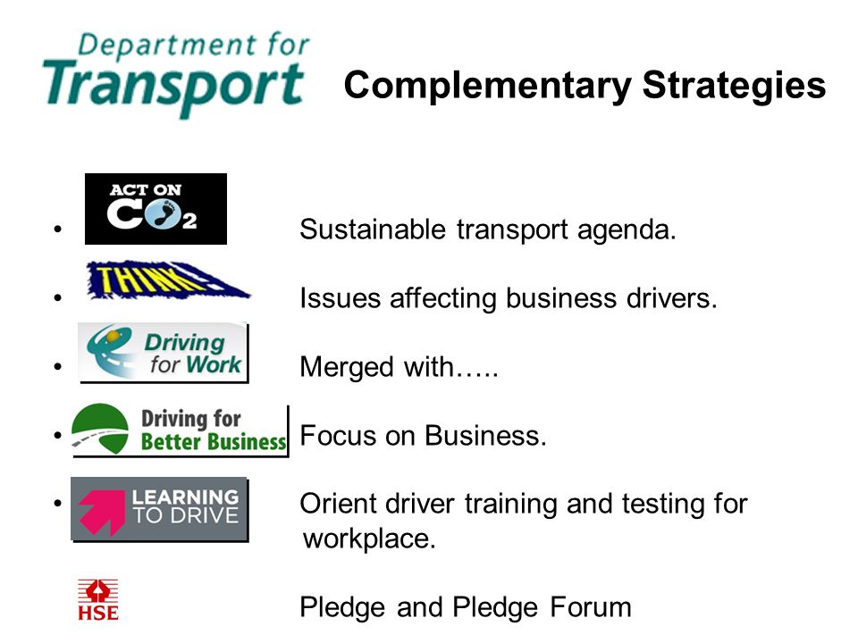Sustainable transport agenda. Issues affecting business drivers.