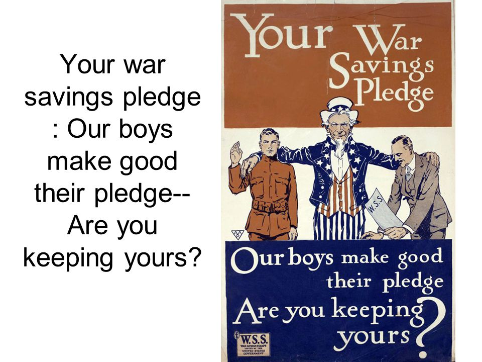 Your war savings pledge : Our boys make good their pledge-- Are you keeping yours?