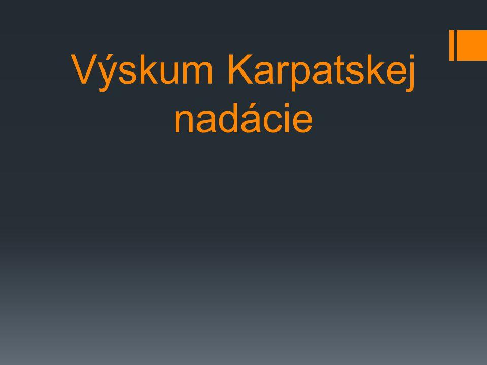 Výskum Karpatskej nadácie