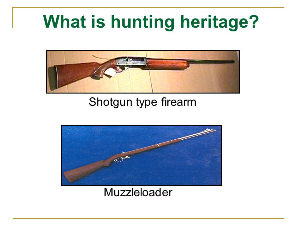 What is hunting heritage Shotgun type firearm Muzzleloader
