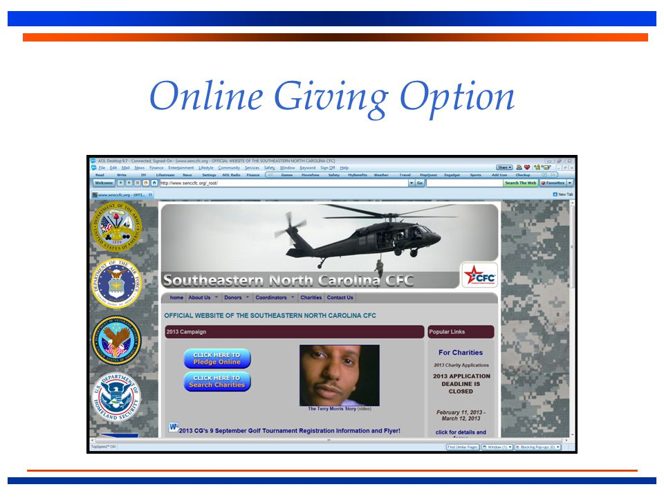 Online Giving Option