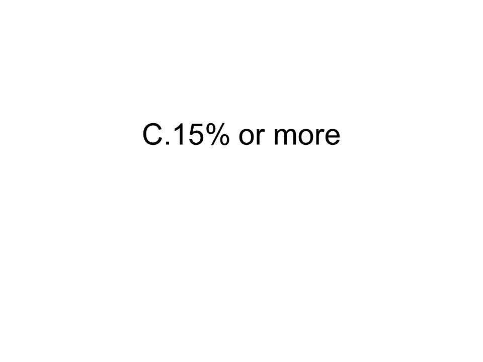 C.15% or more