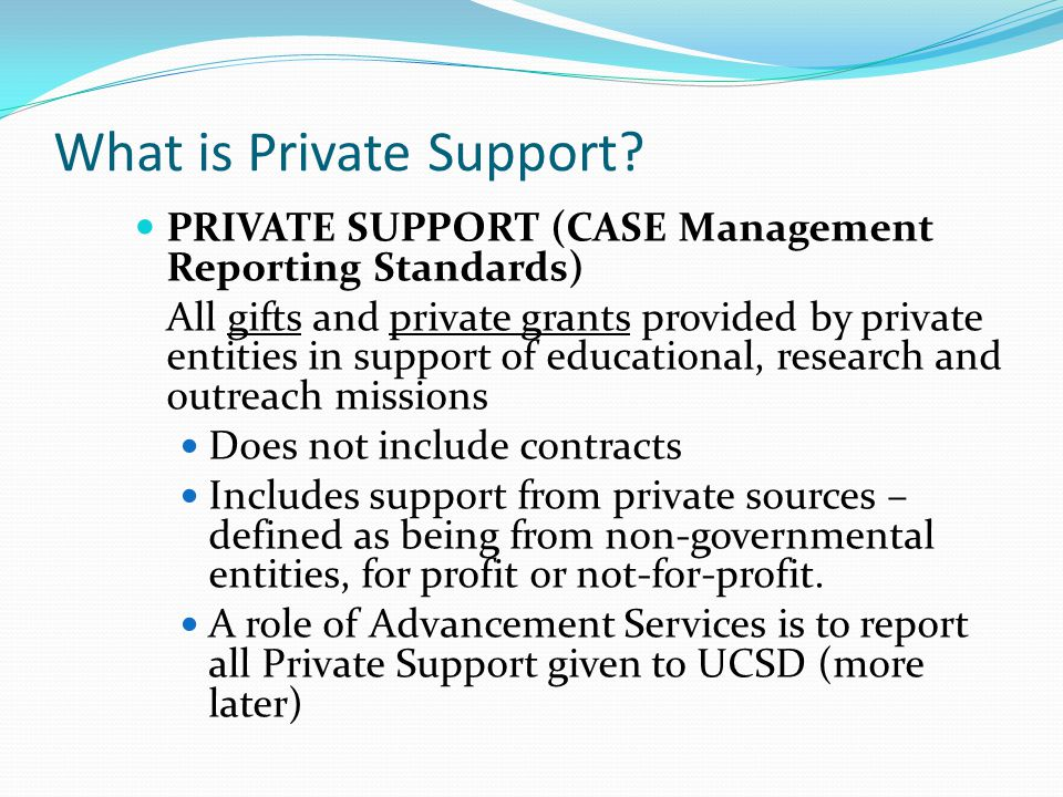 What is Private Support.