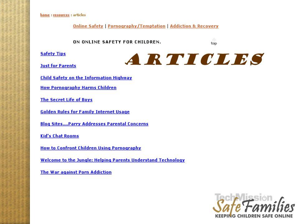 Website tour, articles ARTICLES