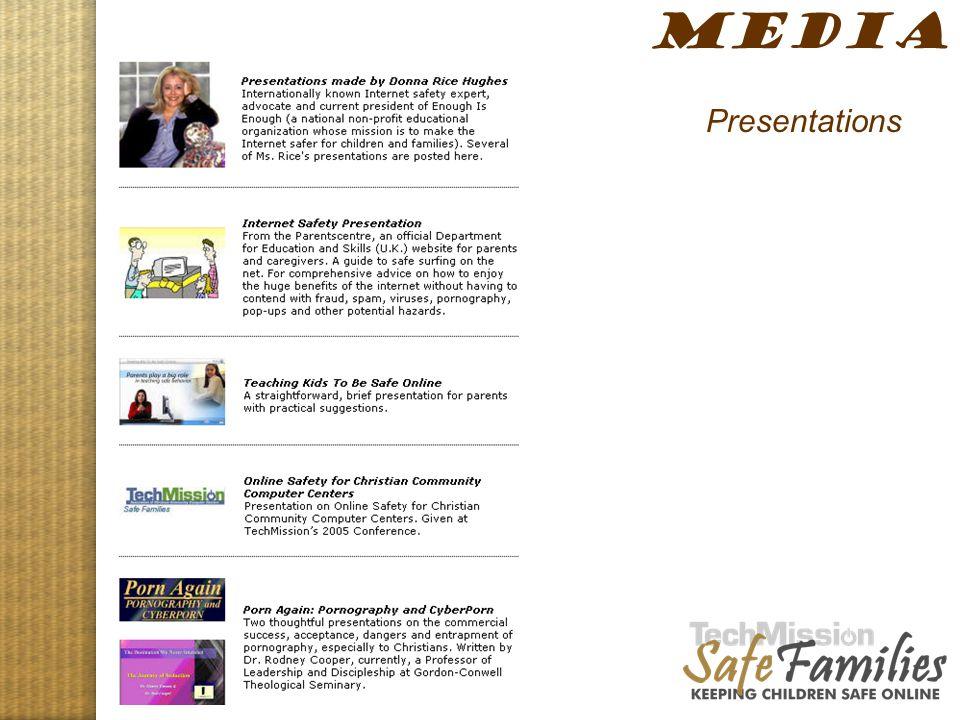Website tour, media 2 MEDIA Presentations