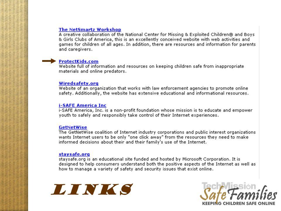 Website tour, links LINKS