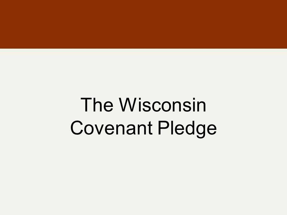 The Wisconsin Covenant Pledge