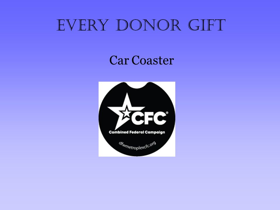 Every Donor Gift Car Coaster
