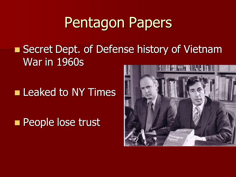 Pentagon Papers Secret Dept. of Defense history of Vietnam War in 1960s Secret Dept.
