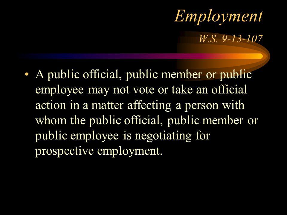 Employment W.S.