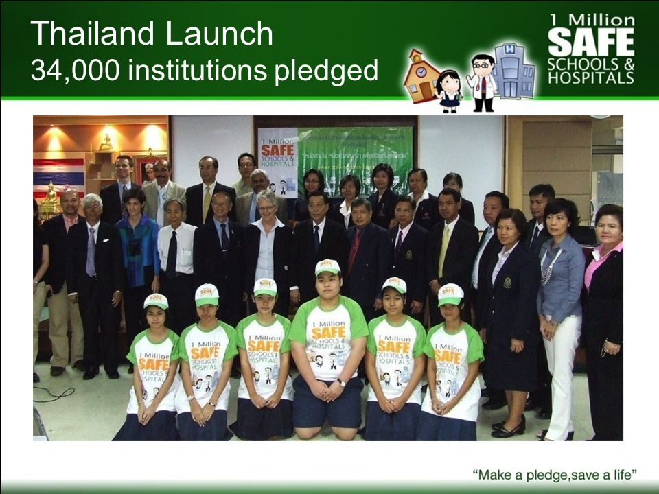 Thailand Launch 34,000 institutions pledged