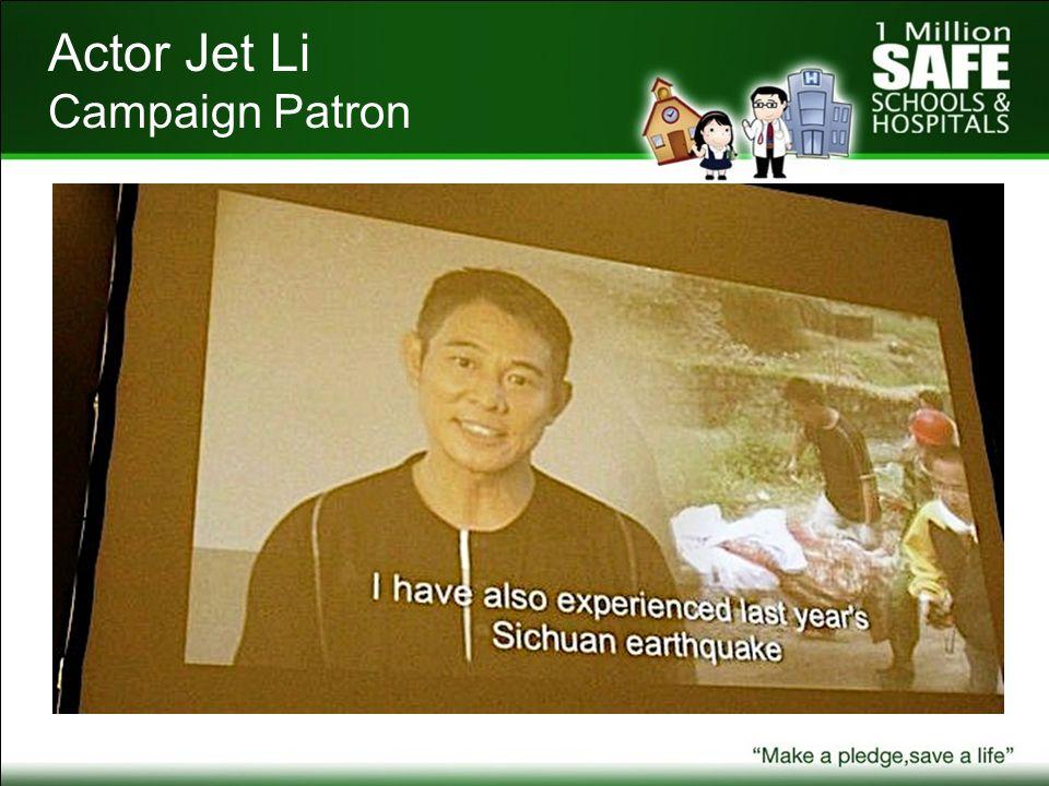 Actor Jet Li Campaign Patron