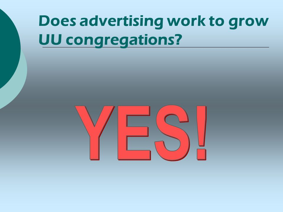 Does advertising work to grow UU congregations