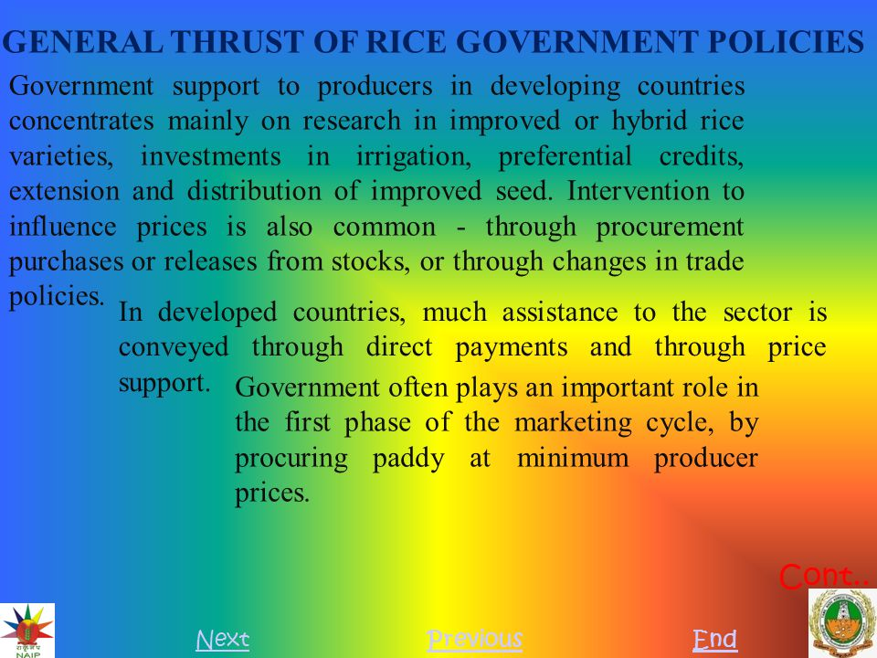 PROCUREMENT OF PADDY UNDER DECENTRALISED PROCUREMENT SYSTEM NextPreviousEnd Procurement of paddy Decentralised procurement system is in force in this State with effect from 01.10.2002.