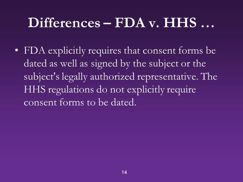 14 Differences – FDA v.