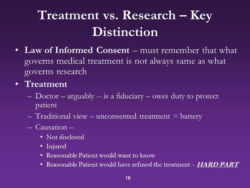 16 Treatment vs.