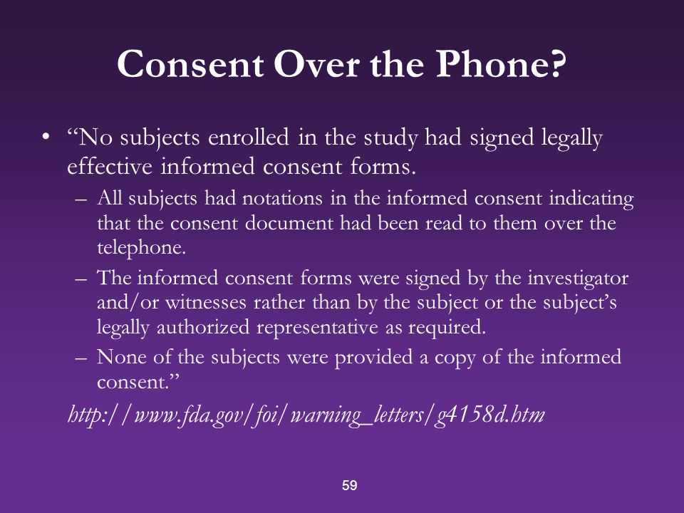 59 Consent Over the Phone.