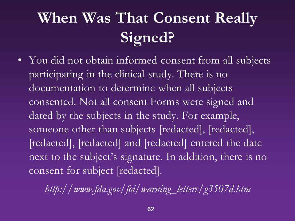 62 When Was That Consent Really Signed.