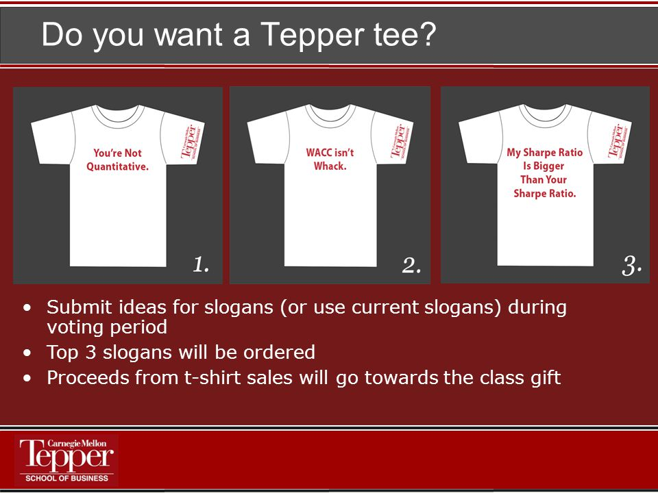 Do you want a Tepper tee.