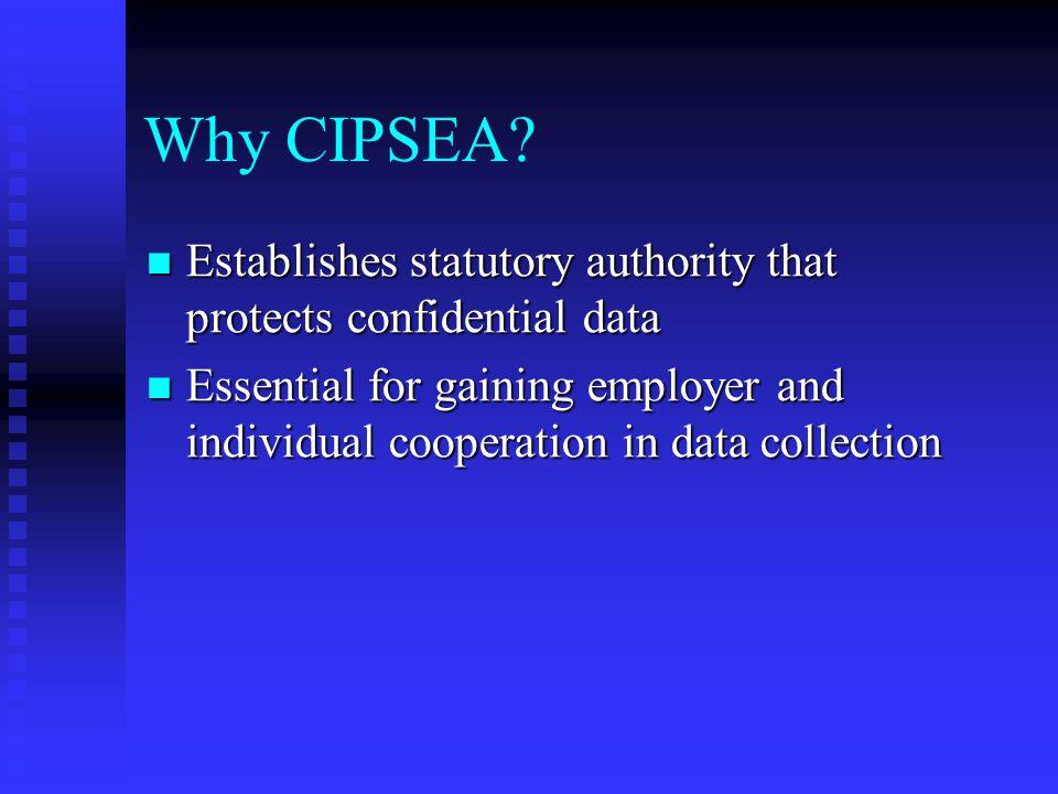 Why CIPSEA.