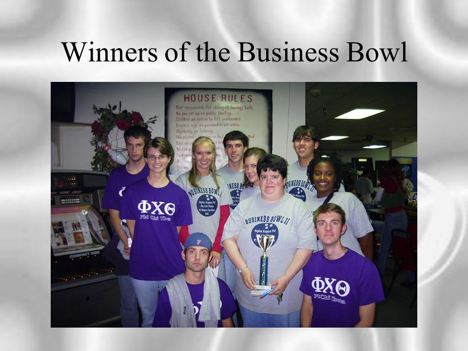 Winners of the Business Bowl