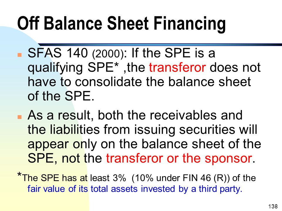 """137 Procedures of Securitization Performed by A SPE (contd.) n The SPE is served as a """"pass through"""". n The sponsor of the SPE charges the transferor"""